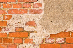 Wall with remain of plaster Royalty Free Stock Photo