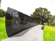 The Wall of Remembrance commemorates New South Wales police officers who have served the State. SYDNEY, AUSTRALIA – On February 3, 2018. – The stock image