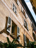 Wall of residential house in old city of Nice Royalty Free Stock Images