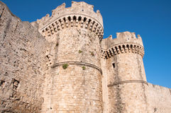 Wall in Rhodes island Royalty Free Stock Photography