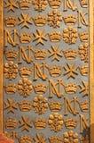 Wall rhythm. Gilded wall decoration in the knights church, Malta Royalty Free Stock Photos