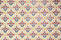Wall richly decorated in Bikaner palace, India Stock Image