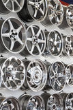 Wall of rims Royalty Free Stock Images