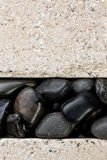 Wall with river stones Royalty Free Stock Image