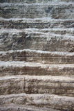 Wall and road in a modern diamond mine. Closeup of mining industry Stock Images