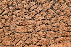 Wall of Rock - Abstract Art and Iconic Strength stock photo