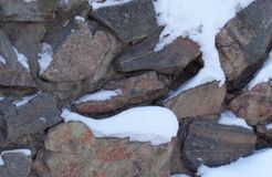 Wall of rocks Royalty Free Stock Photo