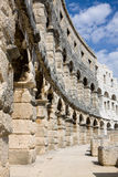 The wall of Roman amphitheatre in Pula Stock Image