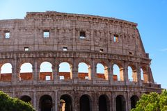 Wall of the Roman Coloseum Royalty Free Stock Image