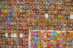 Wall with romanian souvenirs Royalty Free Stock Image