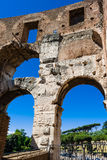 Wall of Rome Colosseum Stock Photo