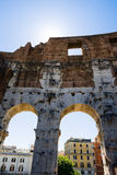 Wall of Rome Colosseum Royalty Free Stock Photo