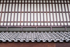 Wall and roof of a Japanese house Royalty Free Stock Photo