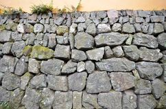 Wall of rough and stacked stones Royalty Free Stock Image