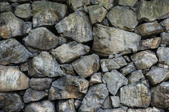 Wall of rough stone blocks Royalty Free Stock Image