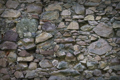 Wall of rough stones Royalty Free Stock Images