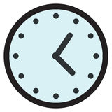 Wall round analog clock face, watch icon Stock Photography