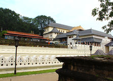 Wall and Royal Palace, the temple of tooth relic Royalty Free Stock Image