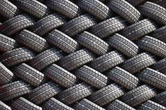 Wall of a rubber tires Stock Image