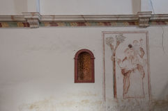 Wall of ruin church Stock Photography