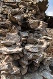 Wall of ruins Royalty Free Stock Photography