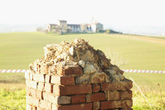 Wall in ruins Royalty Free Stock Images