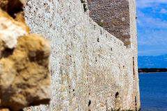 Wall. Ruins on the island of Vir Crotia Republic royalty free stock photography