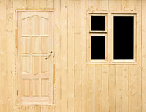Wall of rural house under construction Stock Photo