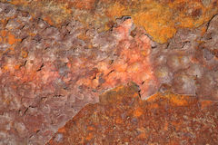 Wall with rust Stock Images