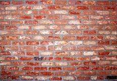 Wall of rustic brick, brick applied brick, brick used in construction. Wall rustic brick applied used construction rusticbrick house housebrick stock image