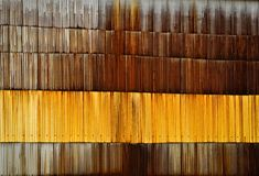 Wall rusty corrugated metal sheet Stock Photography