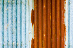 The wall rusty zinc plate Stock Image