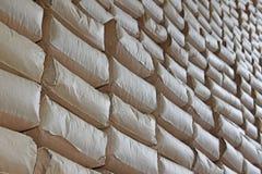 The wall of sacks Stock Photography