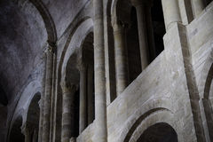 Wall of Saint Foy abbey-church Conques Royalty Free Stock Photos