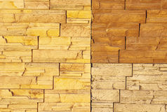 Wall with sample ceramic facing tiles Stock Images