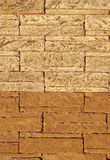 Wall with sample ceramic facing tiles Royalty Free Stock Images