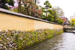Wall in samurai quarters Stock Photos