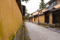 Wall in samurai quarters Royalty Free Stock Photo