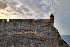 The wall of San Cristobal Royalty Free Stock Photography