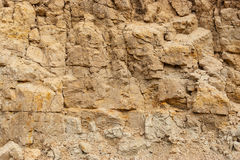 Wall of sand in sand pit Royalty Free Stock Images