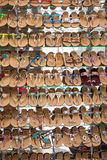 Wall of Sandals Royalty Free Stock Image
