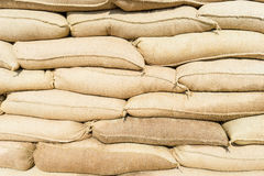 Wall of sandbags Royalty Free Stock Photos