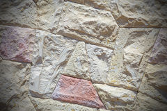 Wall of sandstone blocks Royalty Free Stock Images