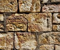Wall of Sandstone Blocks. Royalty Free Stock Photography