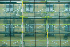 Wall with scaffolding Stock Photography