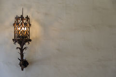 Wall Sconce on Plaster Wall - Landscape. Wall sconce on plaster wall. Landscape Stock Photos