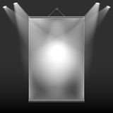 Wall screen. The projection of light on the wall screen Royalty Free Stock Image