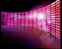 Wall screen on the stage. Vector illustration. Stock Photo