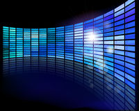 Wall of screens. Abstract multimedia flat screen. Vector illustration