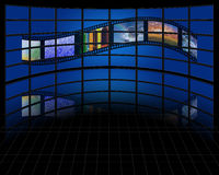 Wall of screens Royalty Free Stock Photography